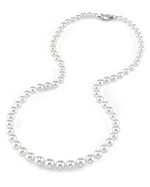 4.0-7.0mm Japanese Akoya White Pearl Necklace - AA+ Quality