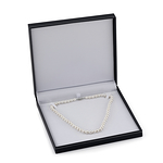 7-8mm White Freshwater Pearl Necklace - AAAA Quality - Third Image