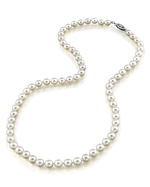 5.5-6.0mm Japanese Akoya White Pearl Necklace- AA+ Quality