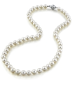 6.5-7.0mm Japanese Akoya White Pearl Necklace- AAA Quality
