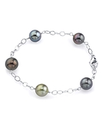9-10mm Tahitian South Sea Multicolor Pearl Tincup Bracelet