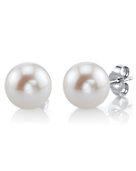 11mm White Freshwater Pearl Stud Earrings
