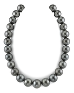 CERTIFIED 15-17.9mm Black Tahitian South Sea Pearl Necklace-AAAA Quality