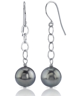 Tahitian South Sea Pearl Dangling Tincup Earrings