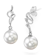 White South Sea Pearl & Diamond Aria Earrings