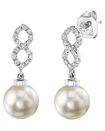 Akoya Pearl & Diamond Harper Earrings