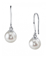 White Akoya Pearl Linda Earrings