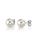 6.5-7.0mm White Akoya Pearl Stud Earrings