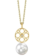 White South Sea Pearl & Diamond Faye Pendant