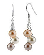 Freshwater Multicolor Pearl Cluster Earrings