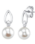 Freshwater Pearl & Diamond Lisa Earrings