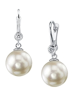 Freshwater Pearl & Diamond Michelle Earrings- Various Colors