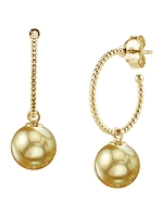 Golden South Sea Pearl Isabella Earrings