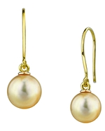 Golden South Sea Pearl Linda Earrings
