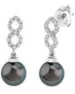 Tahitian South Sea Pearl & Diamond Harper Earrings