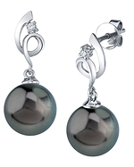 Tahitian South Sea Pearl & Diamond Symphony Earrings