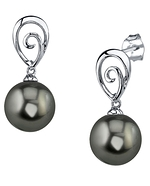 Tahitian South Sea Pearl Autumn Earrings