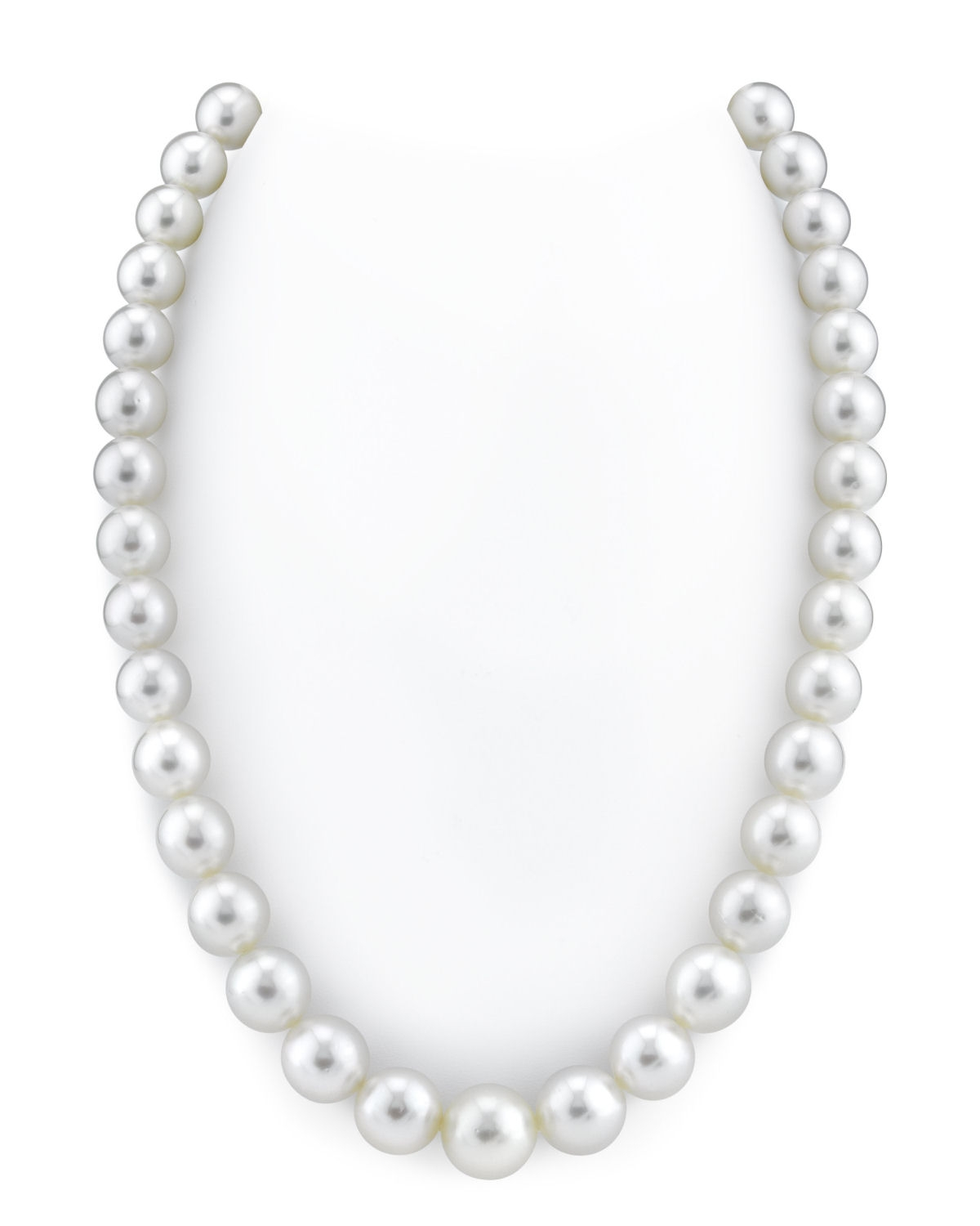 10-12mm White South Sea Pearl Necklace - AAAA Quality