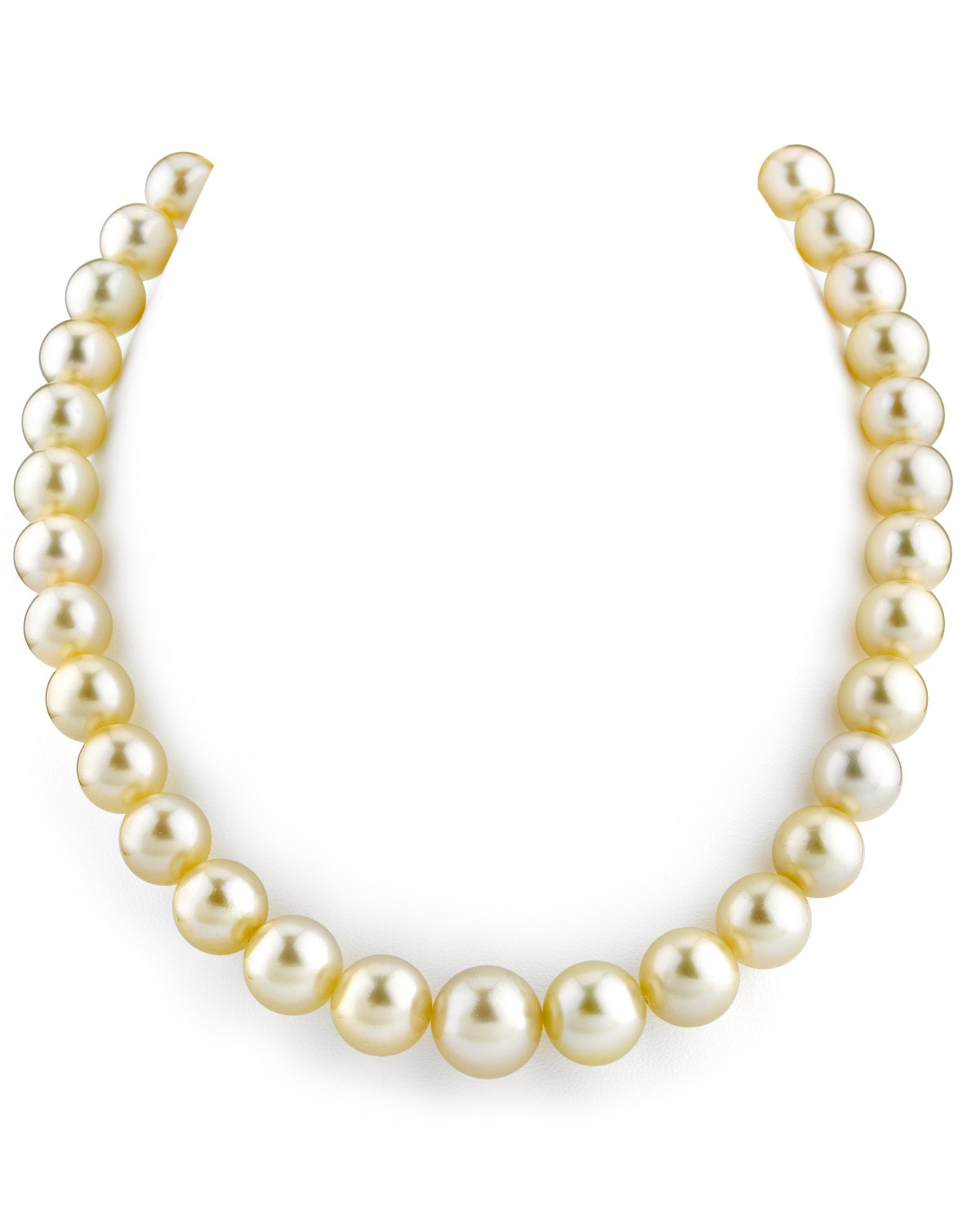 10-12mm Champagne Golden South Sea Pearl Necklace