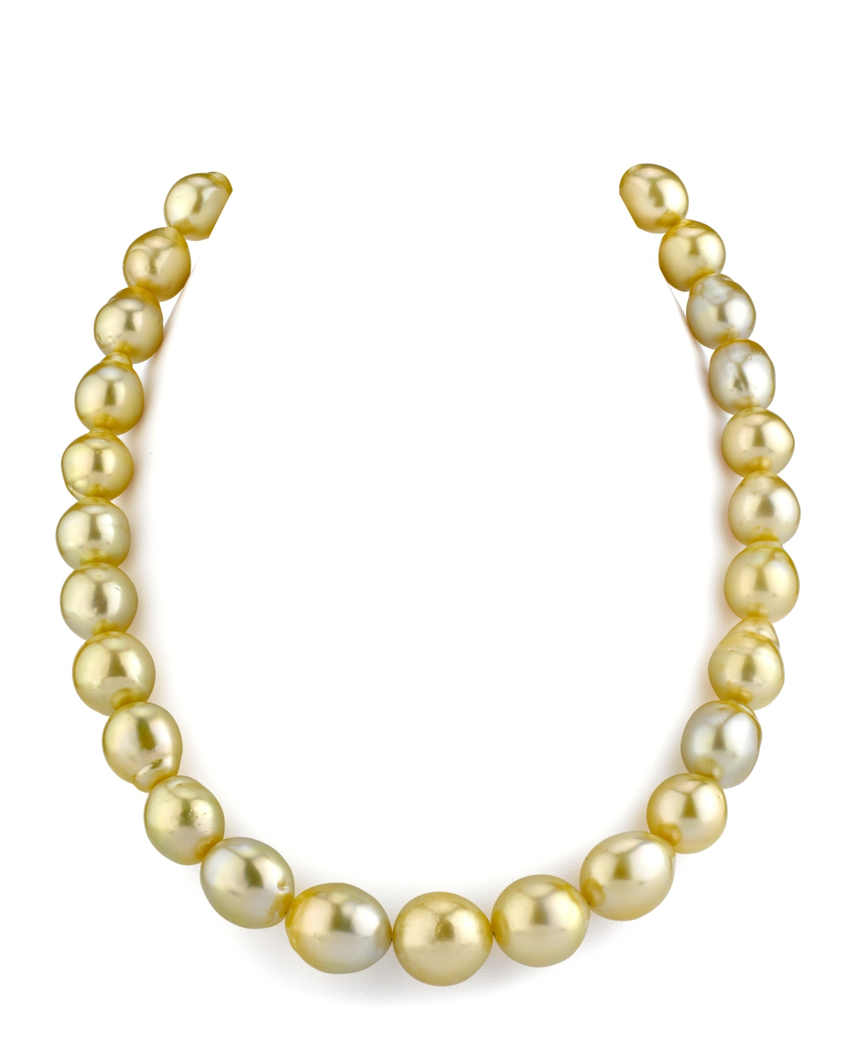 11-14mm Drop-Shape Golden South Sea Pearl Necklace
