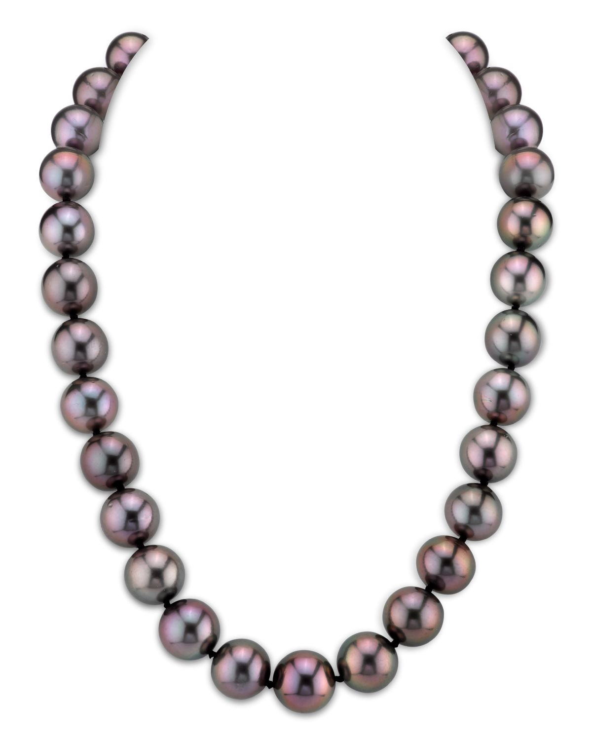 12-13mm RARE Peacock Tahitian South Sea Pearl Necklace