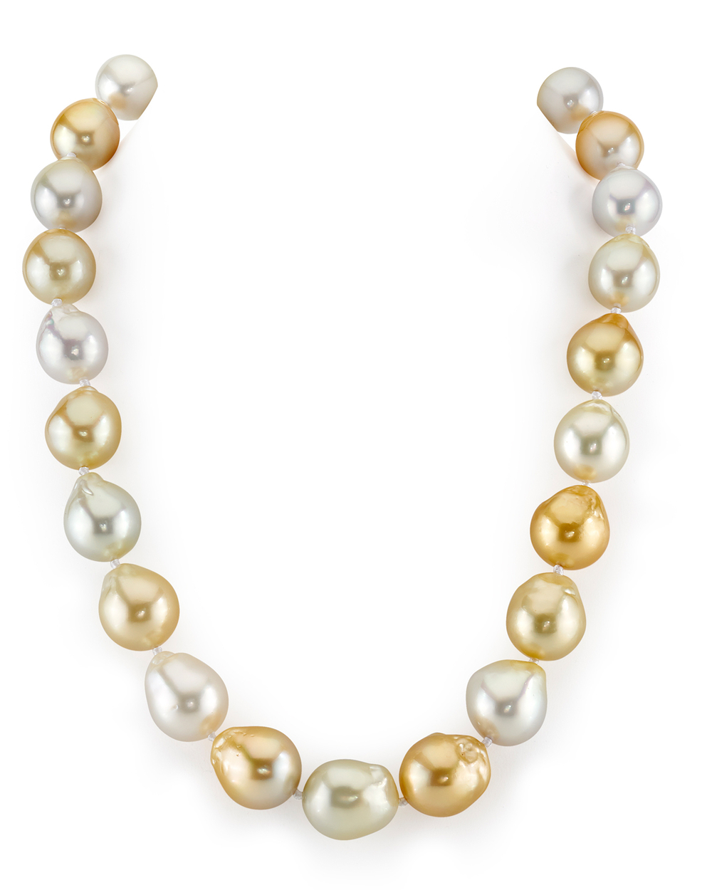 13-15mm South Sea Multicolor Baroque Pearl Necklace
