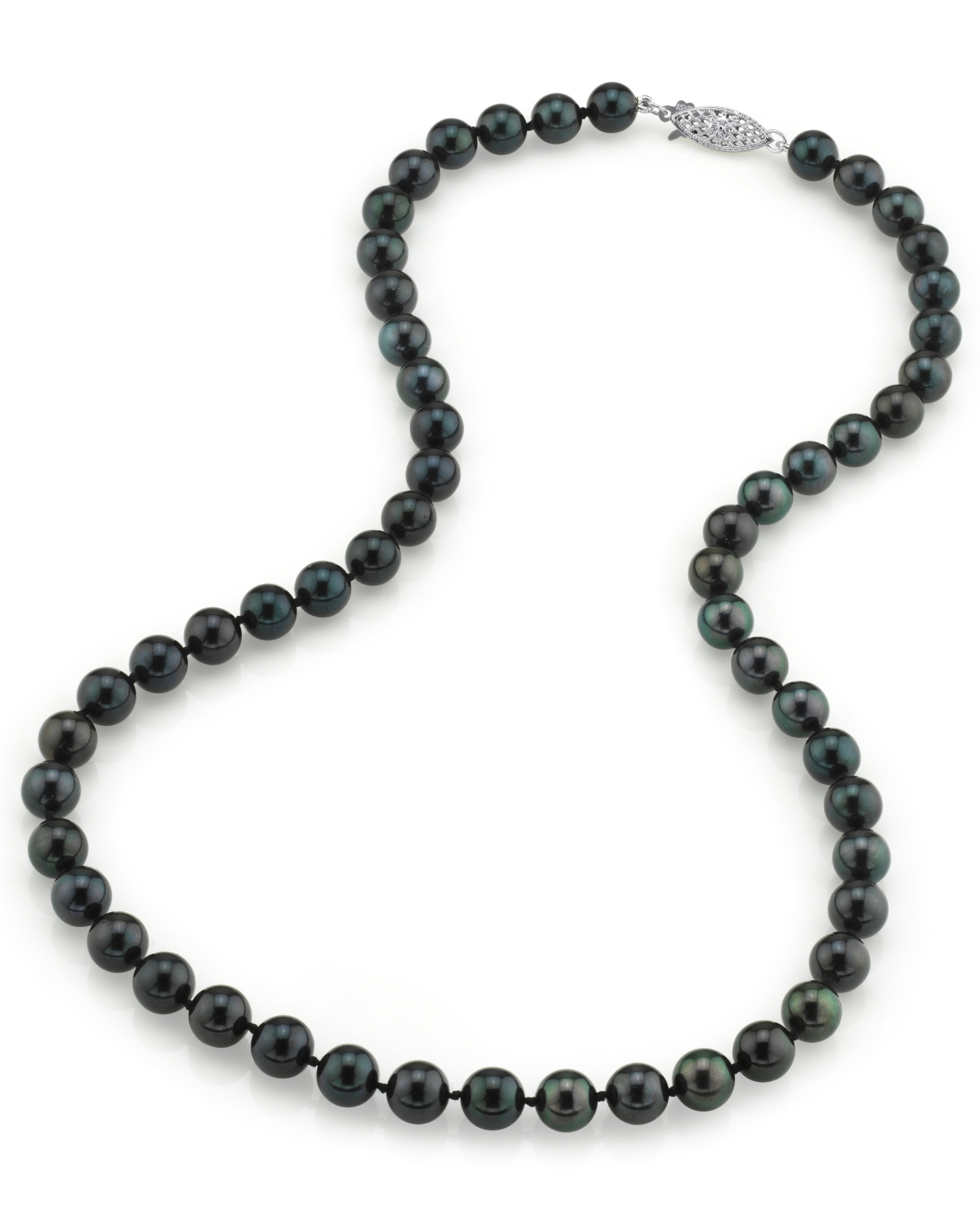 7.0-7.5mm Japanese Akoya Black Pearl Necklace- AA+ Quality