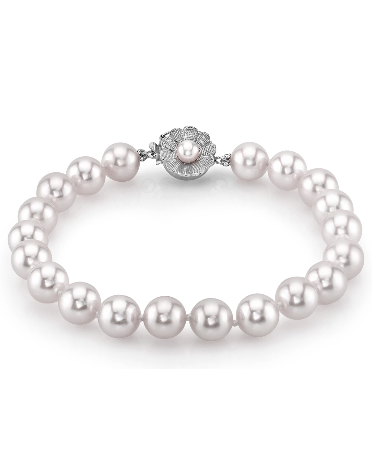 8-9mm White South Sea Pearl Bracelet - AAAA Quality