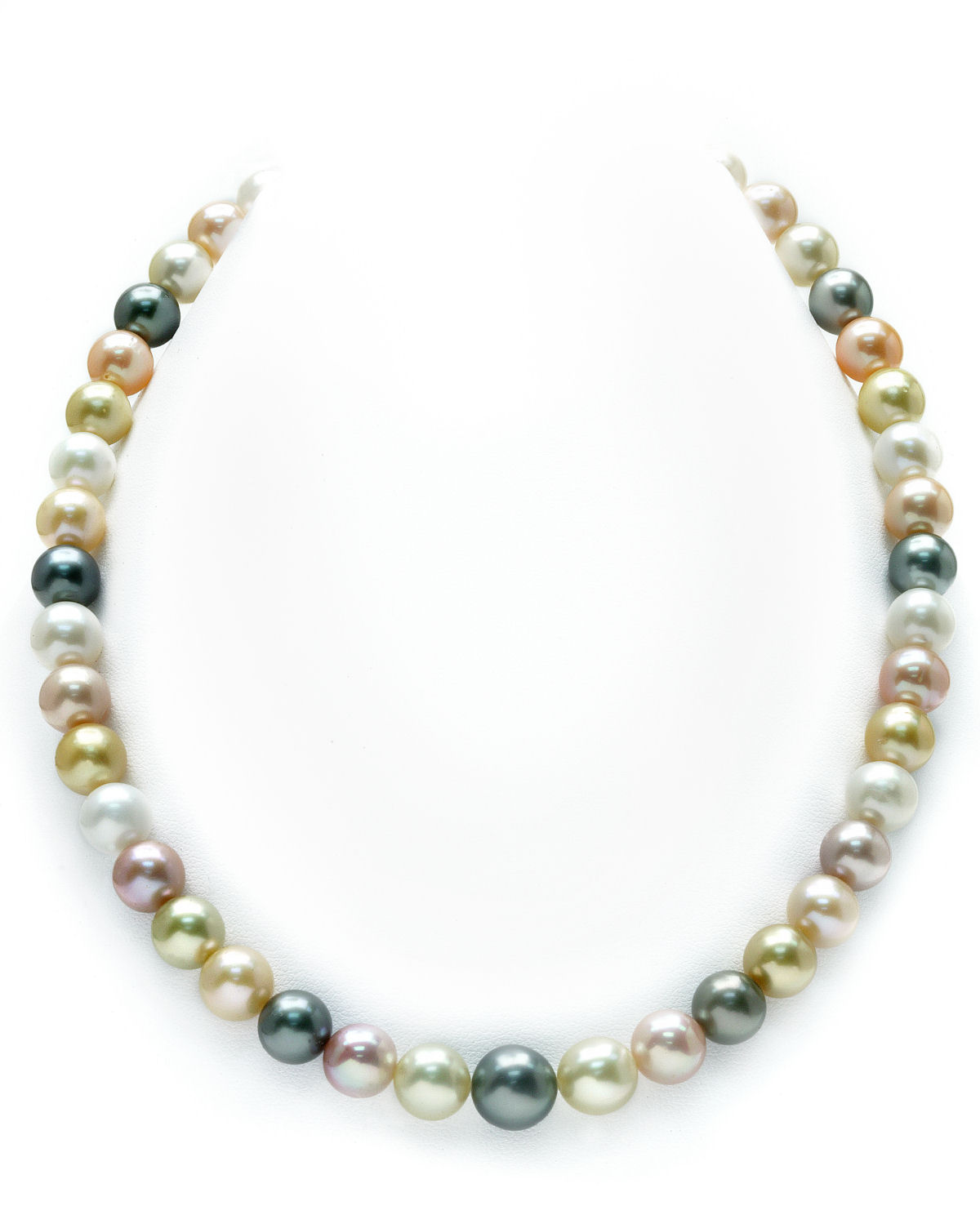 8-10mm South Sea & Freshwater Multicolor Pastel Pearl Necklace
