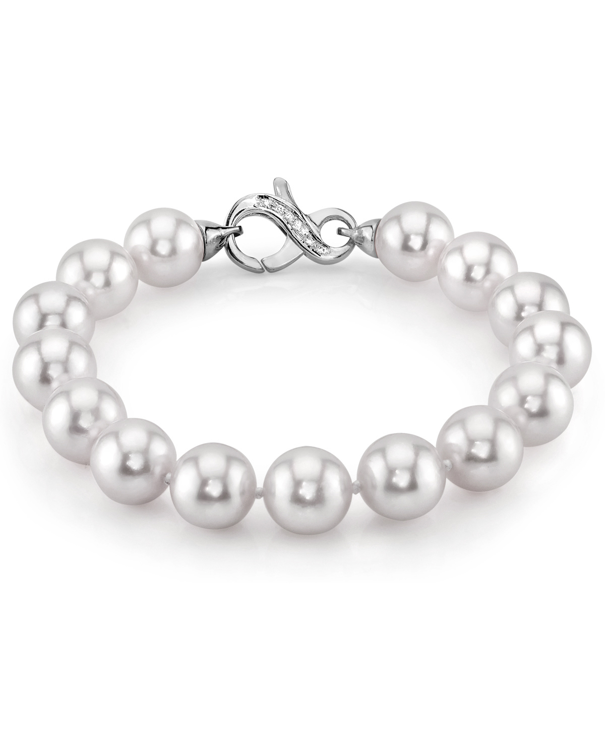 10-11mm White South Sea Pearl Bracelet - AAAA Quality