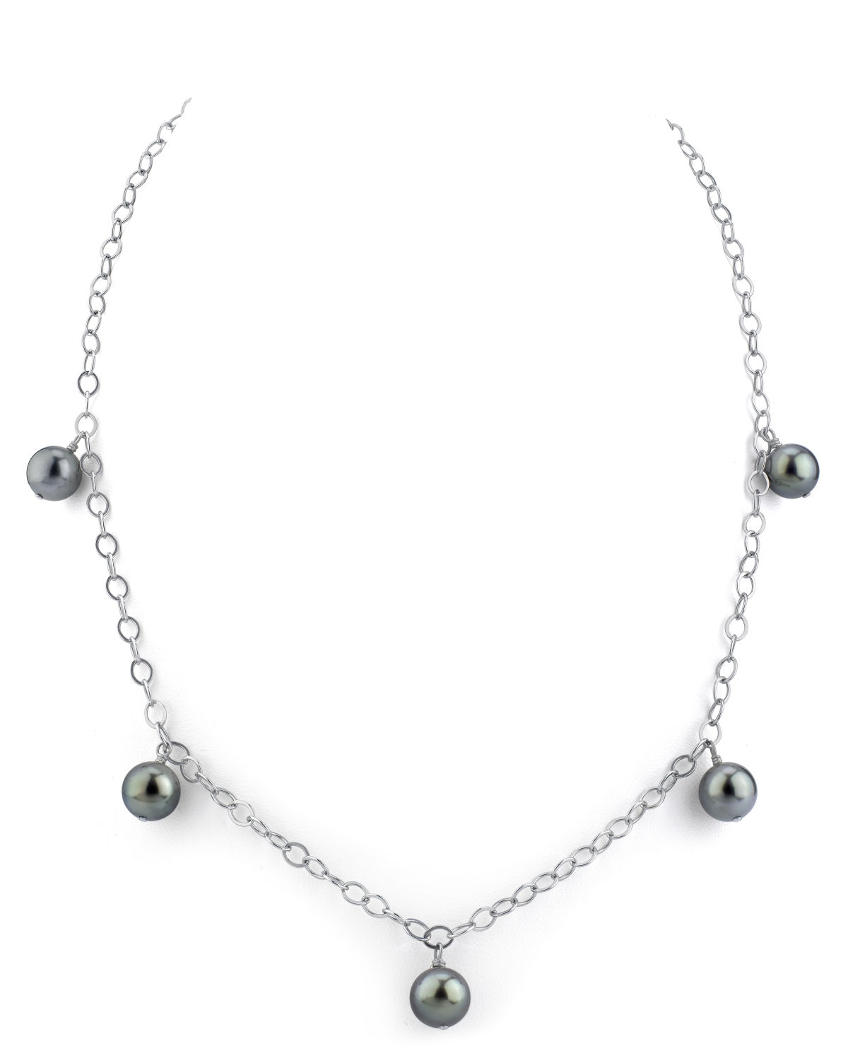 9mm Tahitian South Sea Pearl Dangling Tincup Necklace