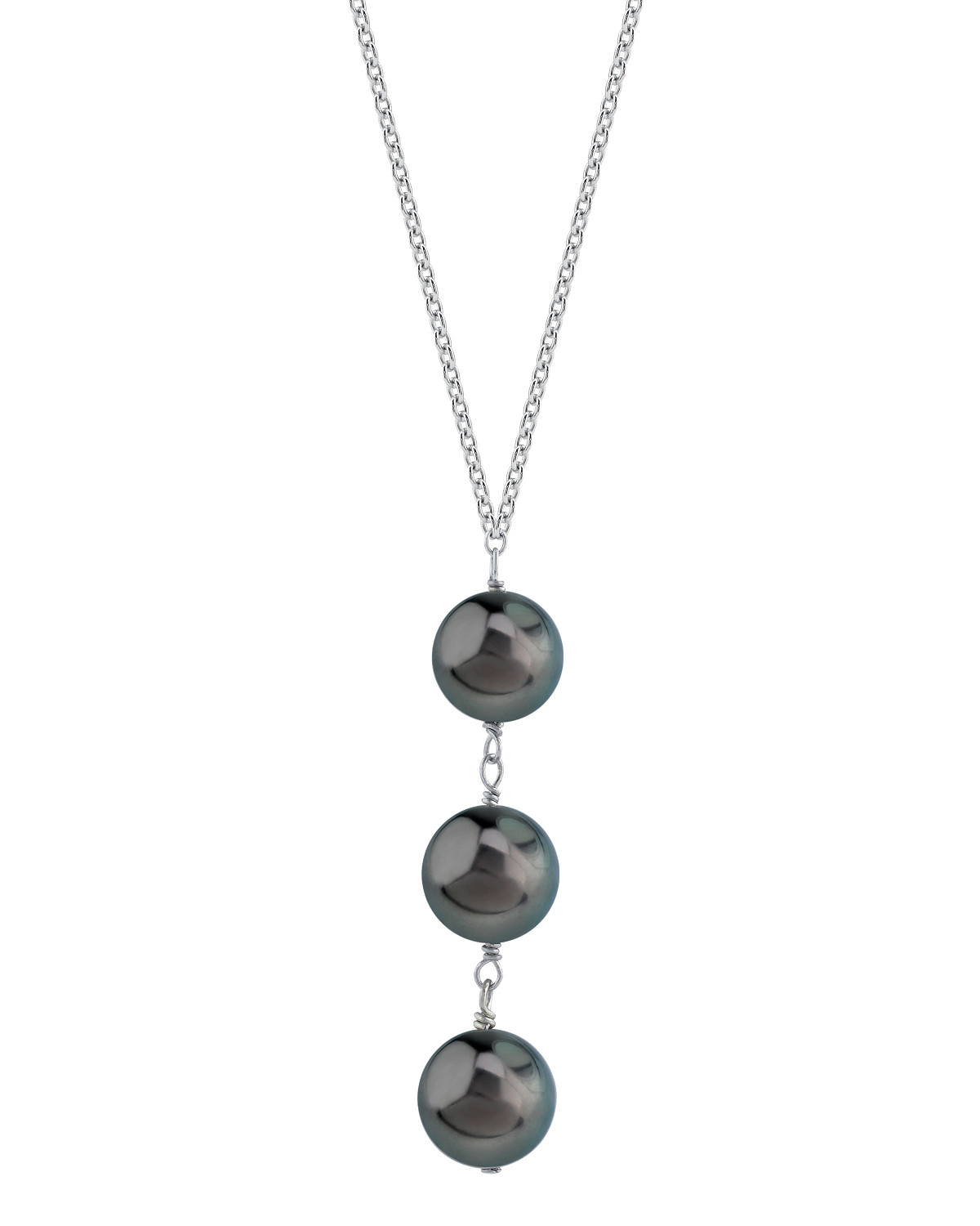 Tahitian South Sea Pearl Triple Drop Pearl Pendant