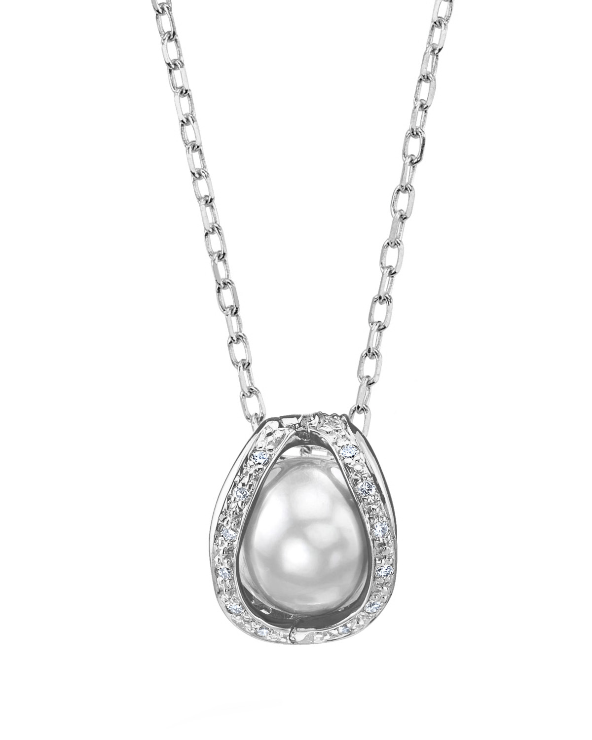 White South Sea Pearl & Diamond Marlo Pendant