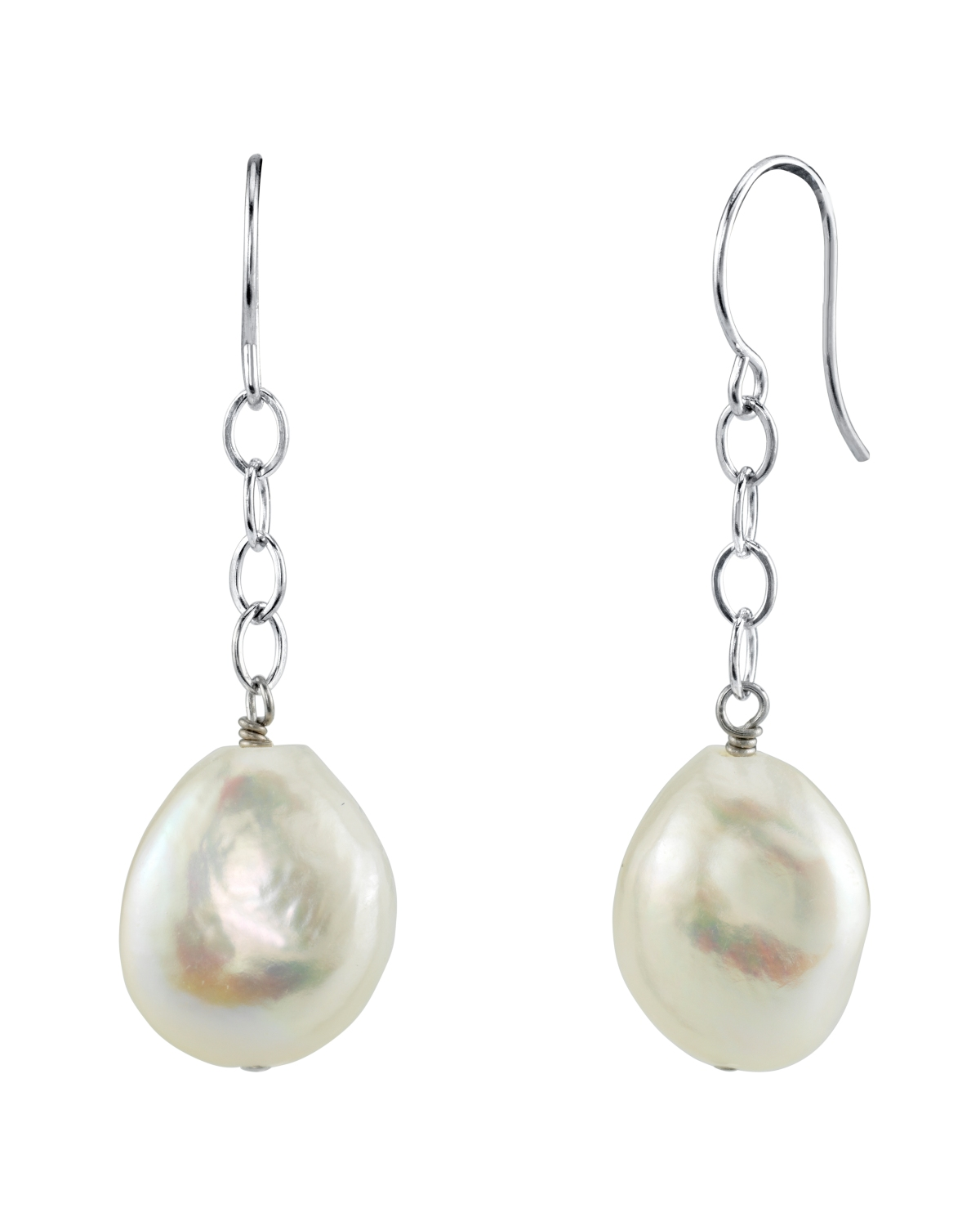 Freshwater Baroque Pearl Dangling Tincup Earrings