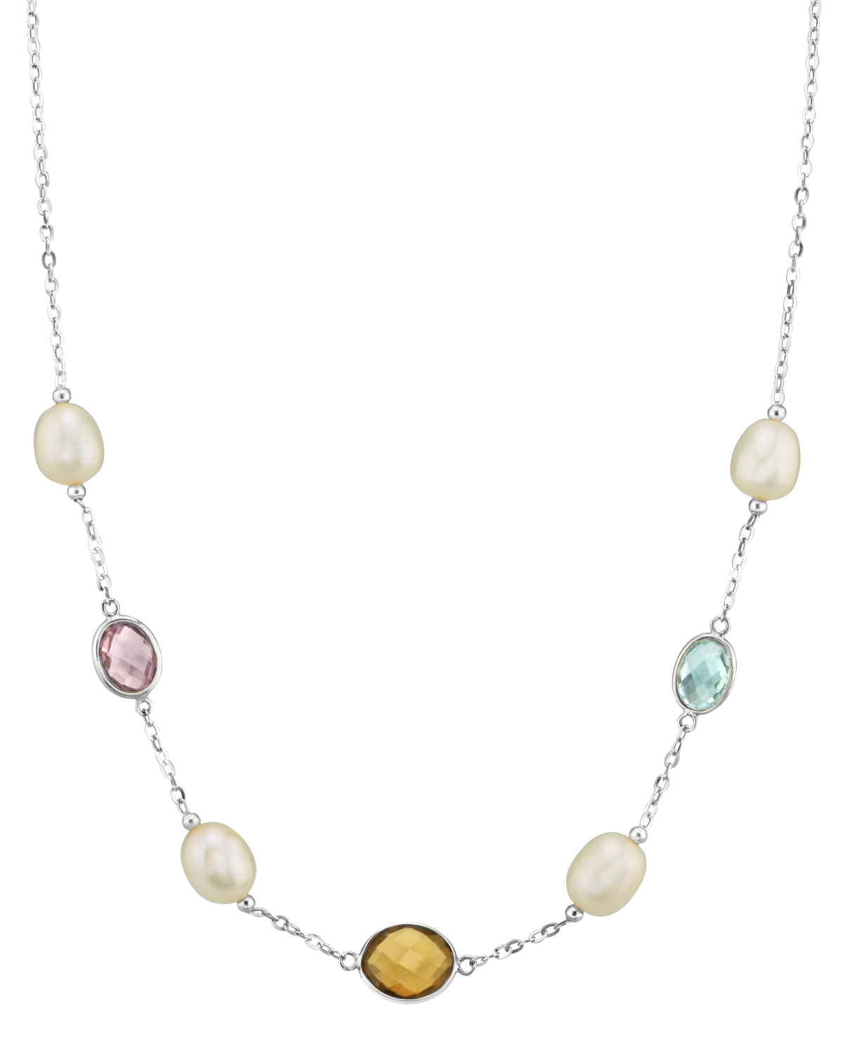 14K Gold Drop-Shape White Freshwater Pearl Tincup Alana Necklace