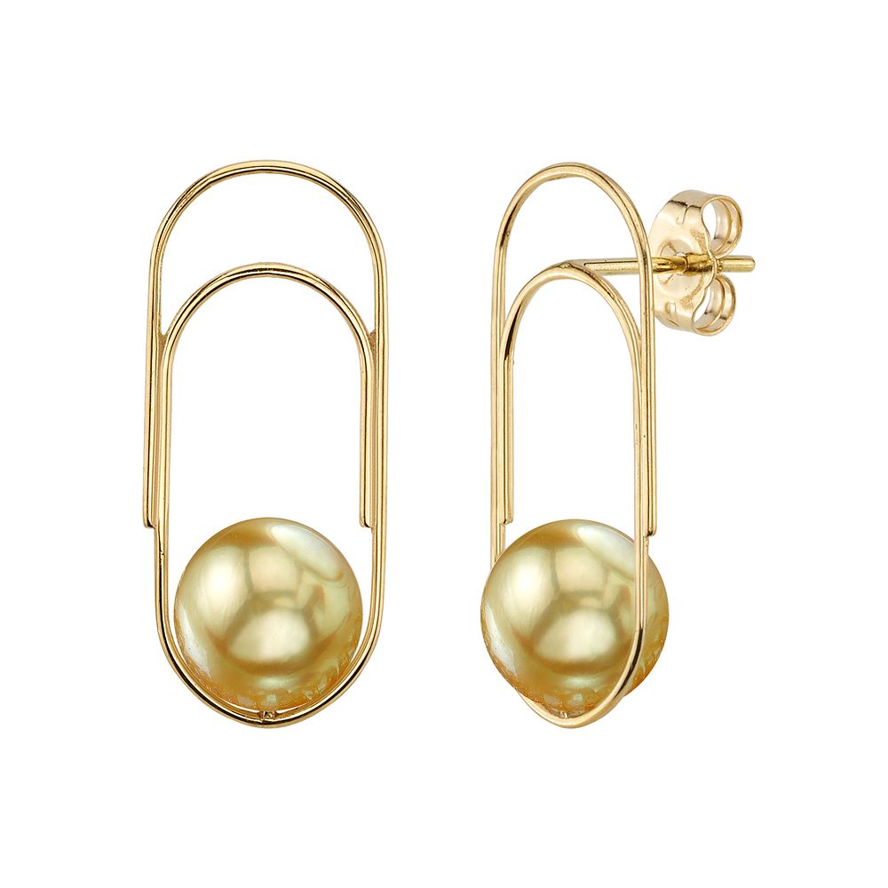 Golden South Sea Pearl Sabrina Earrings