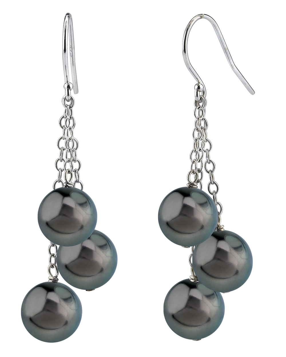 Tahitian South Sea Pearl Cluster Earrings